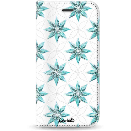 Casetastic Wallet Case White Apple iPhone 7 / 8 - Statement Flowers Blue