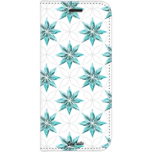 Casetastic Wallet Case White Motorola Moto G6 - Statement Flowers Blue