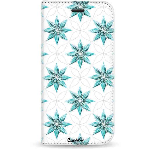Casetastic Wallet Case White Samsung Galaxy J3 (2017) - Statement Flowers Blue