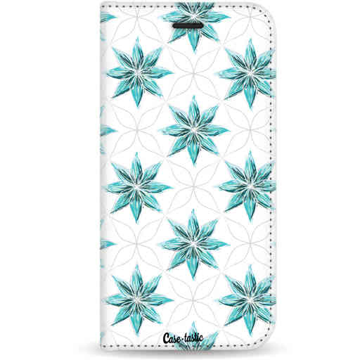 Casetastic Wallet Case White Motorola Moto G5 - Statement Flowers Blue
