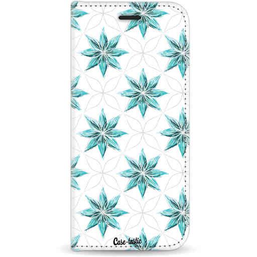 Casetastic Wallet Case White Samsung Galaxy S8 - Statement Flowers Blue