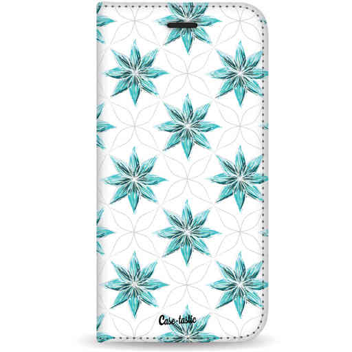 Casetastic Wallet Case White Samsung Galaxy S10 - Statement Flowers Blue