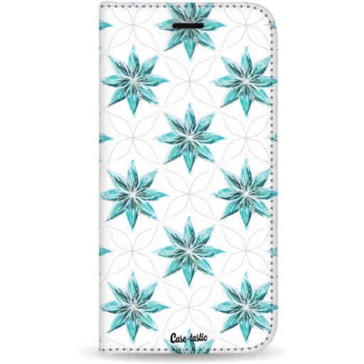 Casetastic Wallet Case White Apple iPhone 7 Plus / 8 Plus - Statement Flowers Blue