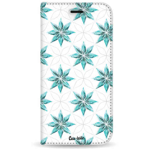 Casetastic Wallet Case White Samsung Galaxy Note 8 - Statement Flowers Blue