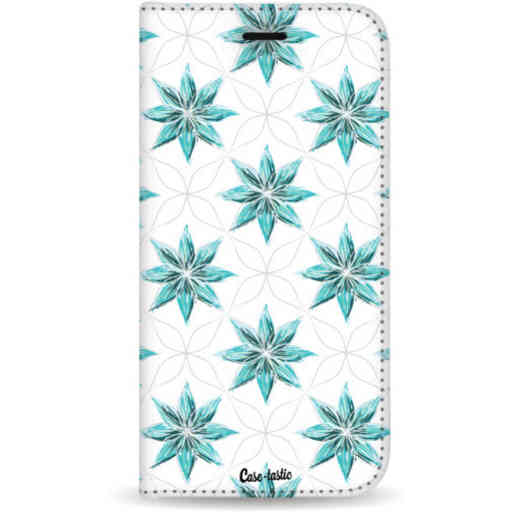 Casetastic Wallet Case White Samsung Galaxy A7 (2018) - Statement Flowers Blue