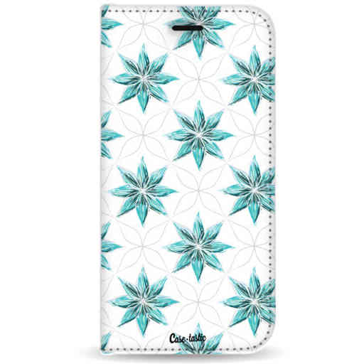 Casetastic Wallet Case White Samsung Galaxy J6 Plus (2018) - Statement Flowers Blue