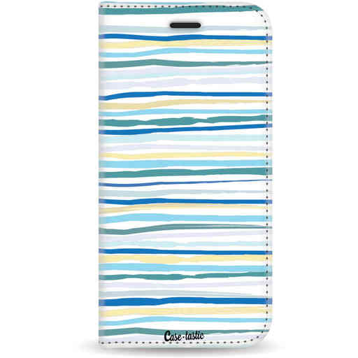 Casetastic Wallet Case White Samsung Galaxy A8 (2018) - Stripe Vibe