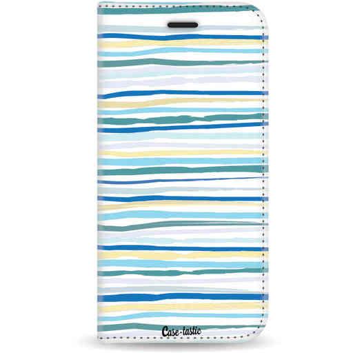 Casetastic Wallet Case White Samsung Galaxy J6 (2018) - Stripe Vibe