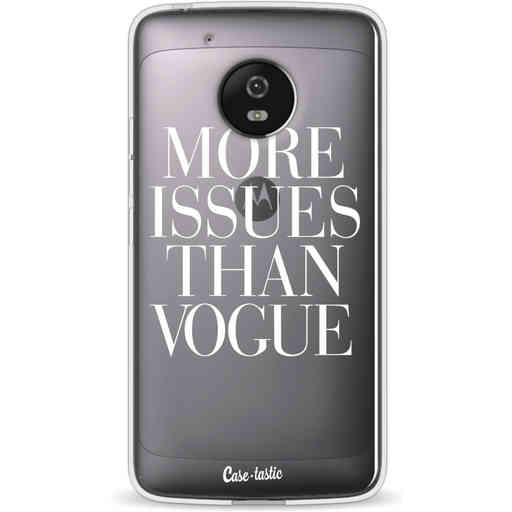 Casetastic Softcover Motorola Moto G5 - More issues than Vogue