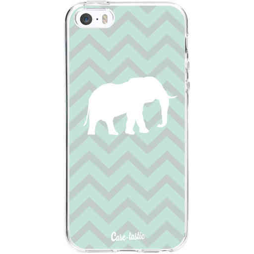 Casetastic Softcover Apple iPhone 5 / 5s / SE - Elephant Chevron Pattern