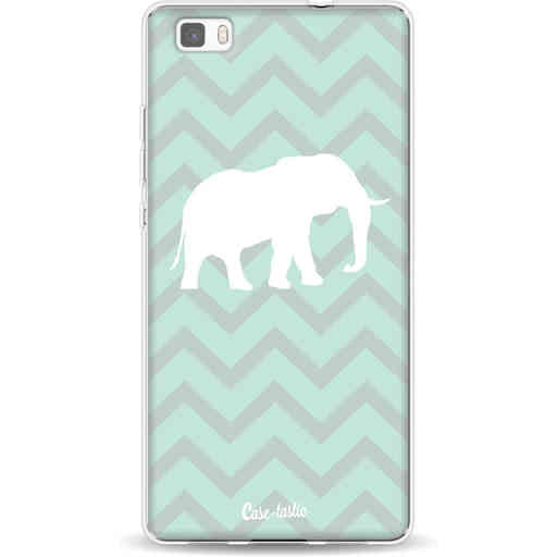 Casetastic Softcover Huawei P8 Lite - Elephant Chevron Pattern