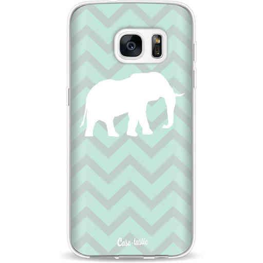 Casetastic Softcover Samsung Galaxy S7 - Elephant Chevron Pattern