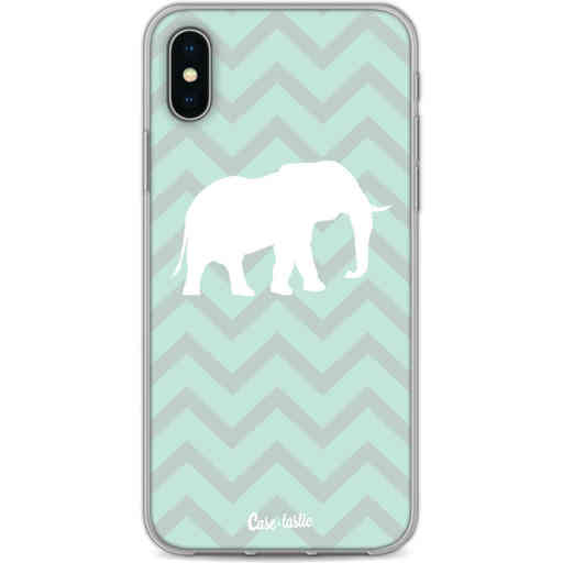 Casetastic Softcover Apple iPhone X / XS - Elephant Chevron Pattern
