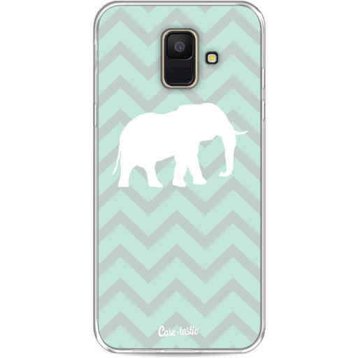 Casetastic Softcover Samsung Galaxy A6 (2018) - Elephant Chevron Pattern