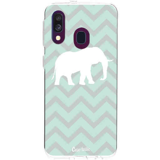 Casetastic Softcover Samsung Galaxy A40 (2019) - Elephant Chevron Pattern