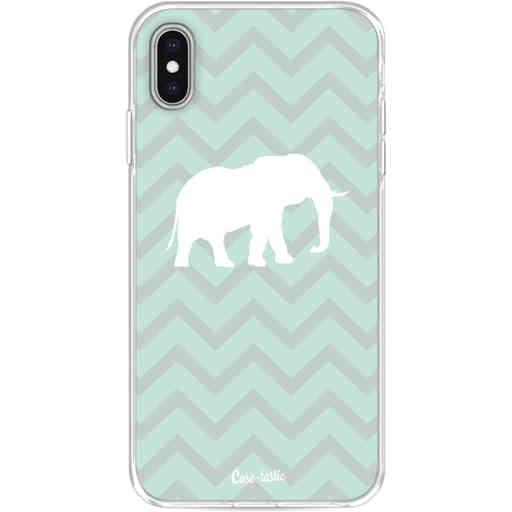 Casetastic Softcover Apple iPhone XS Max - Elephant Chevron Pattern