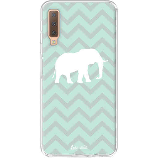 Casetastic Softcover Samsung Galaxy A7 (2018) - Elephant Chevron Pattern