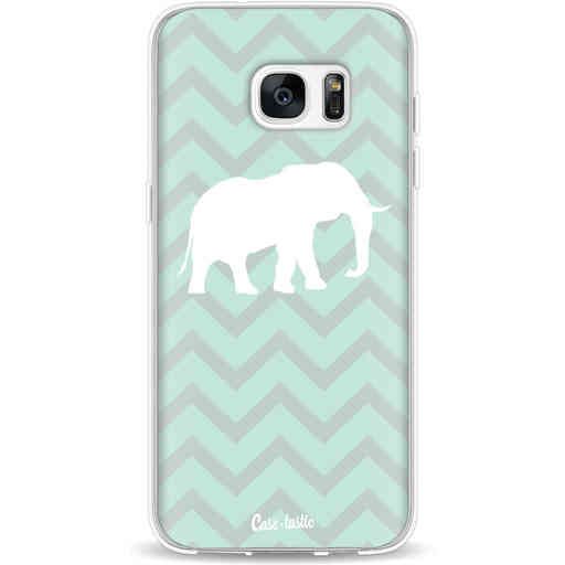 Casetastic Softcover Samsung Galaxy S7 Edge - Elephant Chevron Pattern