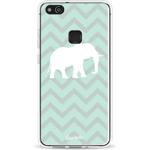Casetastic Softcover Huawei P10 Lite - Elephant Chevron Pattern