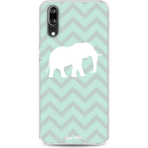 Casetastic Softcover Huawei P20 - Elephant Chevron Pattern