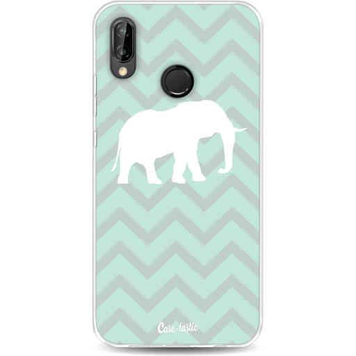 Casetastic Softcover Huawei P20 Lite (2018) - Elephant Chevron Pattern