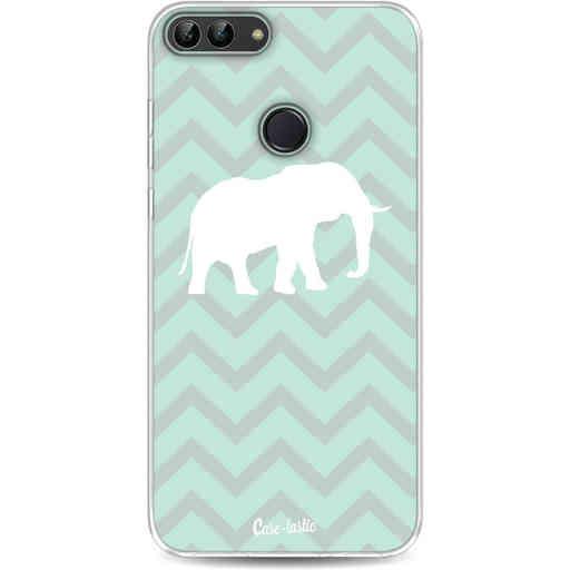 Casetastic Softcover Huawei P Smart - Elephant Chevron Pattern