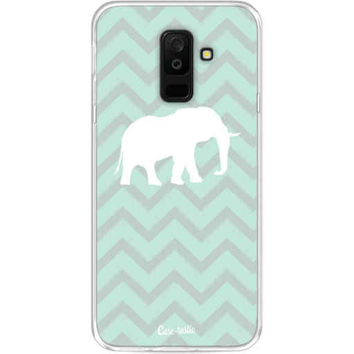 Casetastic Softcover Samsung Galaxy A6 Plus (2018) - Elephant Chevron Pattern