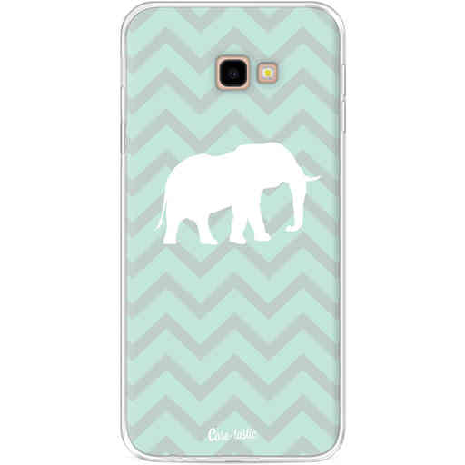 Casetastic Softcover Samsung Galaxy J4 Plus (2018) - Elephant Chevron Pattern