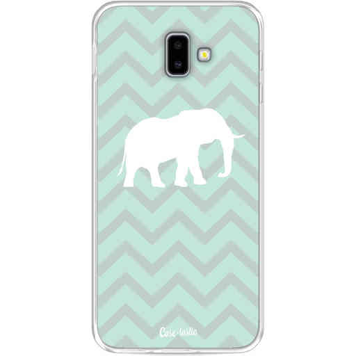 Casetastic Softcover Samsung Galaxy J6 Plus (2018) - Elephant Chevron Pattern