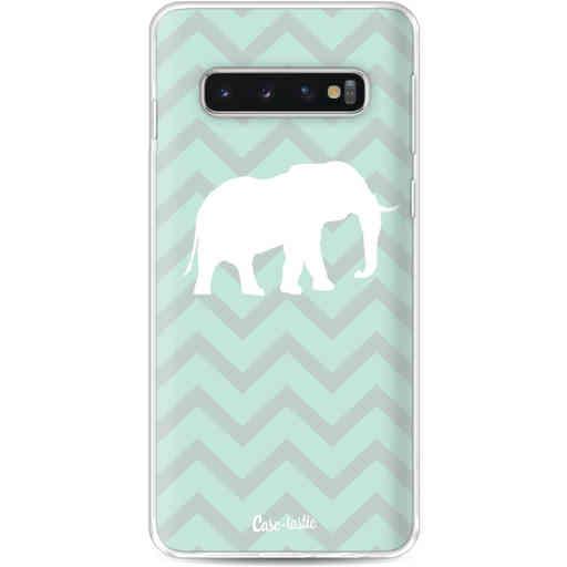 Casetastic Softcover Samsung Galaxy S10 - Elephant Chevron Pattern
