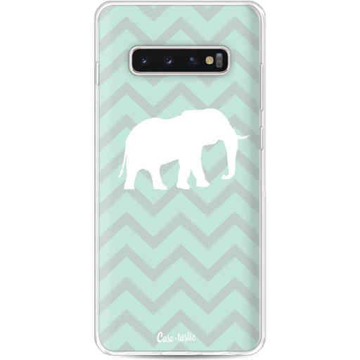 Casetastic Softcover Samsung Galaxy S10 Plus - Elephant Chevron Pattern