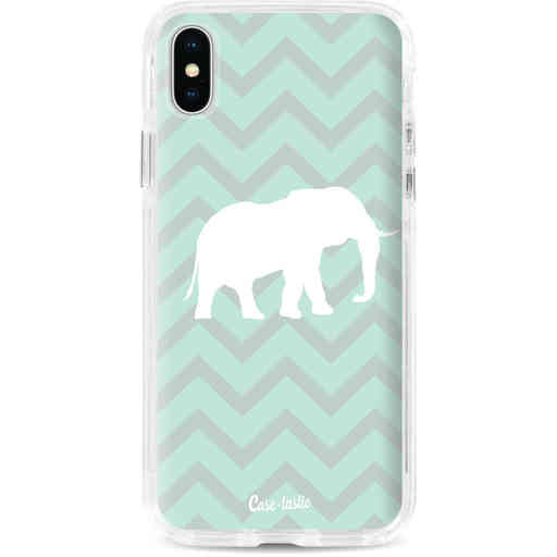 Casetastic Dual Snap Case Apple iPhone X / XS - Elephant Chevron Pattern