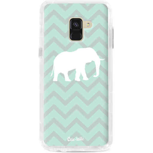 Casetastic Dual Snap Case Samsung Galaxy A8 (2018) - Elephant Chevron Pattern