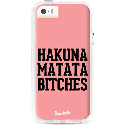 Casetastic Dual Snap Case Apple iPhone 5 / 5s / SE - Hakuna Matata Bitches