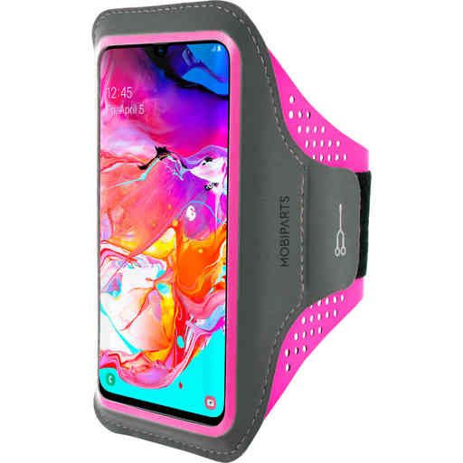 Casetastic Comfort Fit Sport Armband Samsung Galaxy A70 (2019) Neon Pink