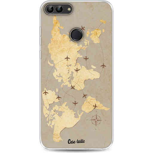 Casetastic Softcover Huawei P Smart - World Traveler