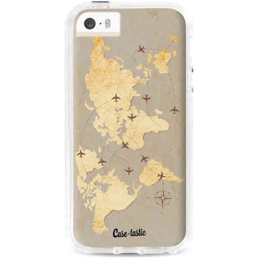 Casetastic Dual Snap Case Apple iPhone 5 / 5s / SE - World Traveler