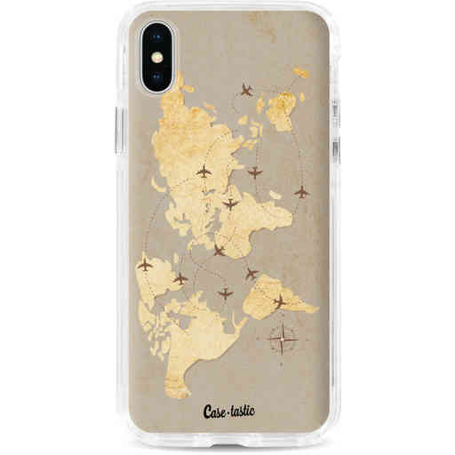 Casetastic Dual Snap Case Apple iPhone X / XS - World Traveler
