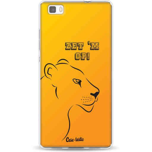Casetastic Softcover Huawei P8 Lite - Oranje Leeuwinnen,  zet 'm op!