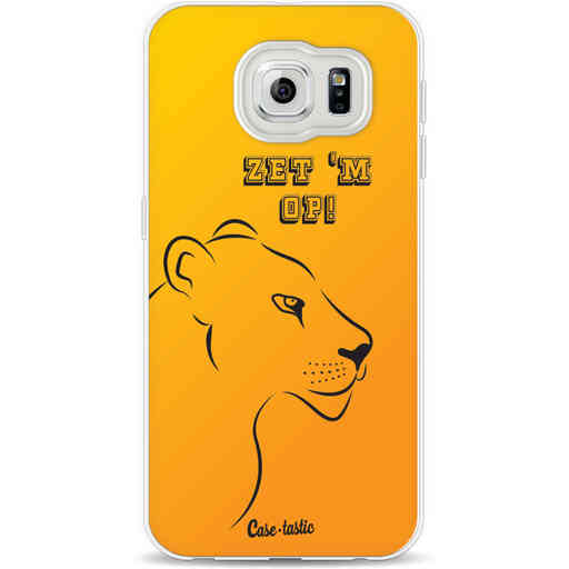 Casetastic Softcover Samsung Galaxy S6 - Oranje Leeuwinnen,  zet 'm op!