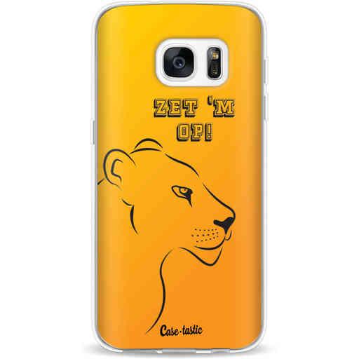 Casetastic Softcover Samsung Galaxy S7 - Oranje Leeuwinnen,  zet 'm op!