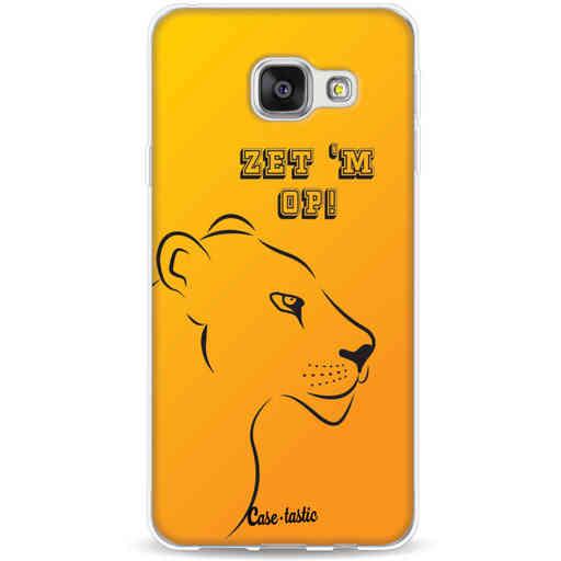 Casetastic Softcover Samsung Galaxy A3 (2016) - Oranje Leeuwinnen,  zet 'm op!