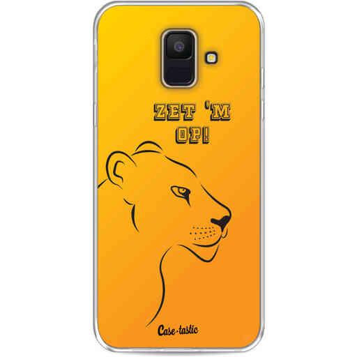 Casetastic Softcover Samsung Galaxy A6 (2018) - Oranje Leeuwinnen,  zet 'm op!