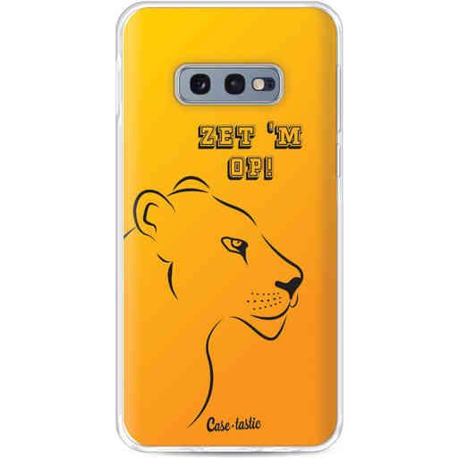 Casetastic Softcover Samsung Galaxy S10e - Oranje Leeuwinnen,  zet 'm op!