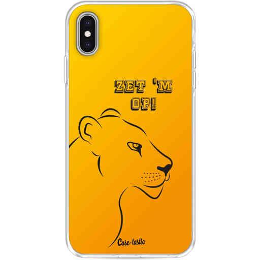 Casetastic Softcover Apple iPhone XS Max - Oranje Leeuwinnen,  zet 'm op!