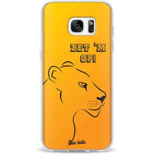 Casetastic Softcover Samsung Galaxy S7 Edge - Oranje Leeuwinnen,  zet 'm op!