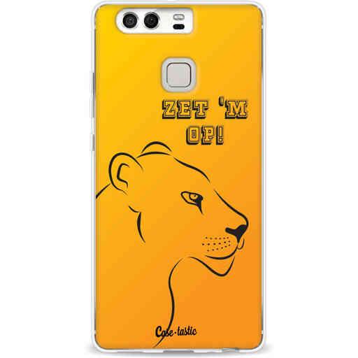 Casetastic Softcover Huawei P9 - Oranje Leeuwinnen,  zet 'm op!