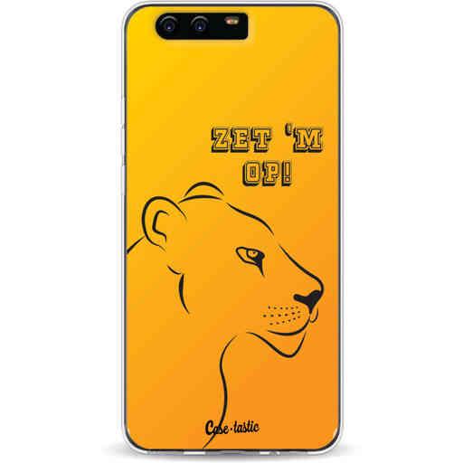 Casetastic Softcover Huawei P10 - Oranje Leeuwinnen,  zet 'm op!