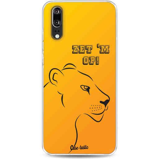 Casetastic Softcover Huawei P20 - Oranje Leeuwinnen,  zet 'm op!