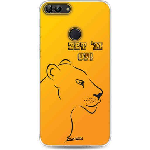 Casetastic Softcover Huawei P Smart - Oranje Leeuwinnen,  zet 'm op!